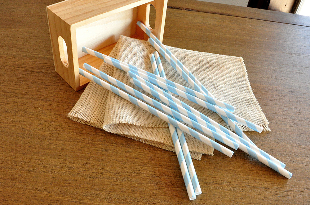Light Blue Wedding Straws 10CT. Ships in 1-3 Business Days. Cinderella Party Decorations. Party Straws.