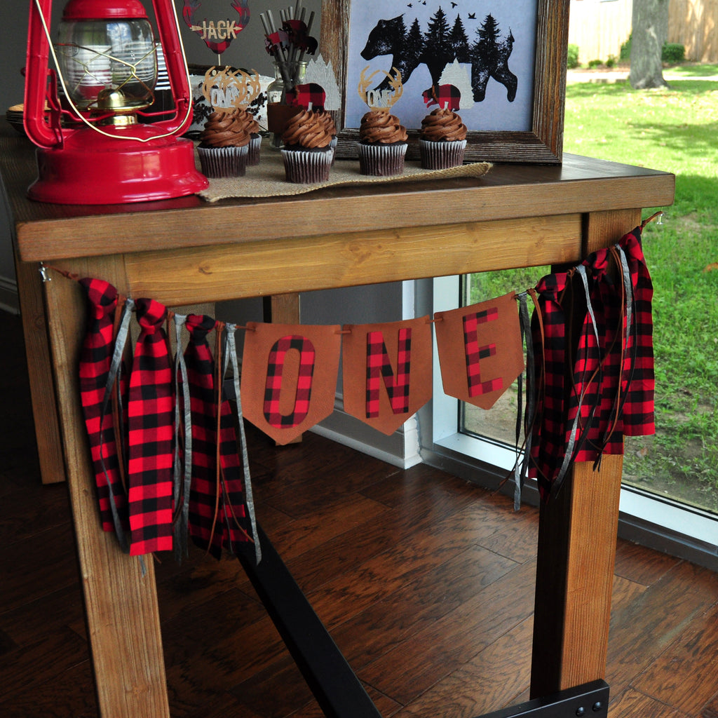 Little Lumberjack Birthday High Chair Banner. Made in 1-3 Days. First Birthday Boy. Lumberjack 1st Birthday Banner. Lumberjack First Birthday.