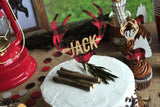 Little Lumberjack Cake Topper. Made in 1-3 Days. Personalized Cake Topper with Name. Smash Cake Topper Boy. Lumberjack First Birthday Decorations.