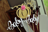 Little Pumpkin Baby Shower Decoration. Made in 1-3 Days. Pumpkin Centerpiece. (1 Set of 3 Centerpieces) Fall Baby Shower Decoration.