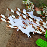 Llama Fiesta Straws. (1 Set of 10 Straws) Llama Party Decorations. Fiesta Baby Shower Decor.