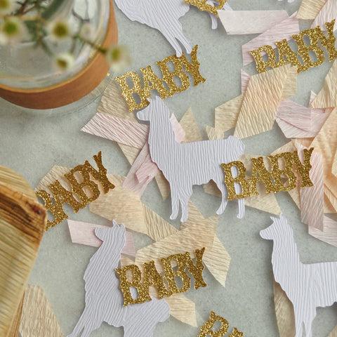 Llama Baby Shower Confetti. Llama Party Decorations. Fiesta Baby Shower. Llama Party Supplies.