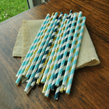 Mermaid Birthday Decor. Under the Sea Paper Straws 25CT. Ships in 1-3 Business Days. Summer Party Straws.
