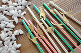 Mermaid Party Decorations. Mermaid Birthday Straws. (1 Set of 10 Straws). Made in 1-3 Business Days. Under the Sea Party Decoration.
