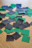 Pixel Confetti for a MineCraft Party. Ships in 1-3 Business Days. Green and Black Square Confetti. 50CT.