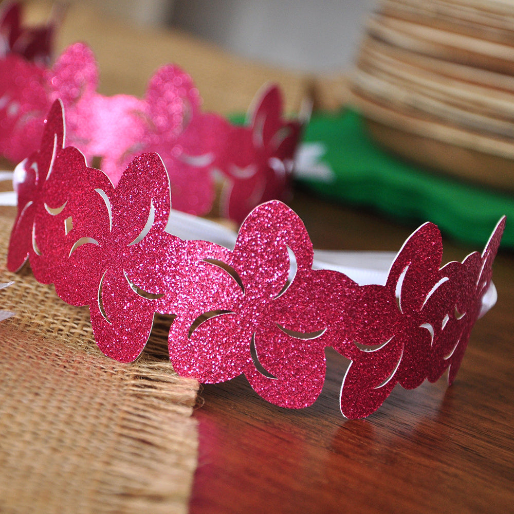 Moana Flower Crown. Party Favor Crowns. Flower Crown. Set of 5 Crowns and Ribbon.