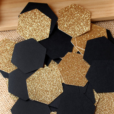 Mommy to Bee Baby Shower Confetti.  Ships in 1-3 Business Days.  What Will it Bee.  Sweet As Can Bee. 50CT Hexagon Confetti.