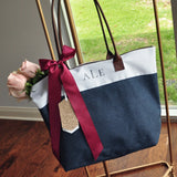 Monogram Tote Bag (QTY. 1).  Bridesmaid Tote.  Personalize Tote Bag. NRT.