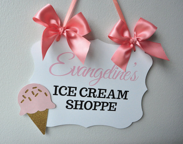 Name Banner For Ice Cream Party Birthday Banner Handcrafted In 1 3