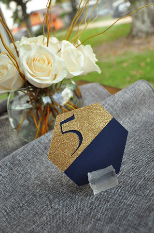bcad751b9 Navy Wedding Table Number. Gold and Navy Wedding. Handcrafted in 1-3 ...