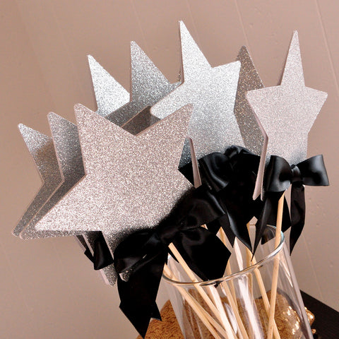 Graduation Centerpiece.  Handcrafted in 1-3 Business Days.  Graduation 2017 Party Ideas.  Star Wands 5CT.