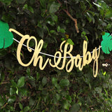 Oh Baby Banner. Safari Baby Shower Banner. Jungle Baby Shower Decoration.