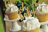 Oh Baby Cupcake Topper. (1 Set of 12 Toppers). Made in 1-3 Business Days. Oh Baby. Gender Neutral Baby Shower Decoration.