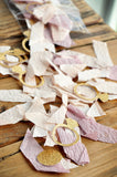 Mini Gold Ring Confetti Mix. Handcrafted in 1-3 Business Days. Ring Confetti with Ombre Crepe. Spring Bridal Shower Ideas.