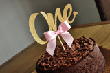 One Cake Topper. Ships in 1-3 Business Days. 1st Birthday Cake Topper. Pink and Gold Party Decorations.