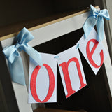 One Highchair Banner.  Ships in 1-3 Business Days.  Airplane Party Decoration.