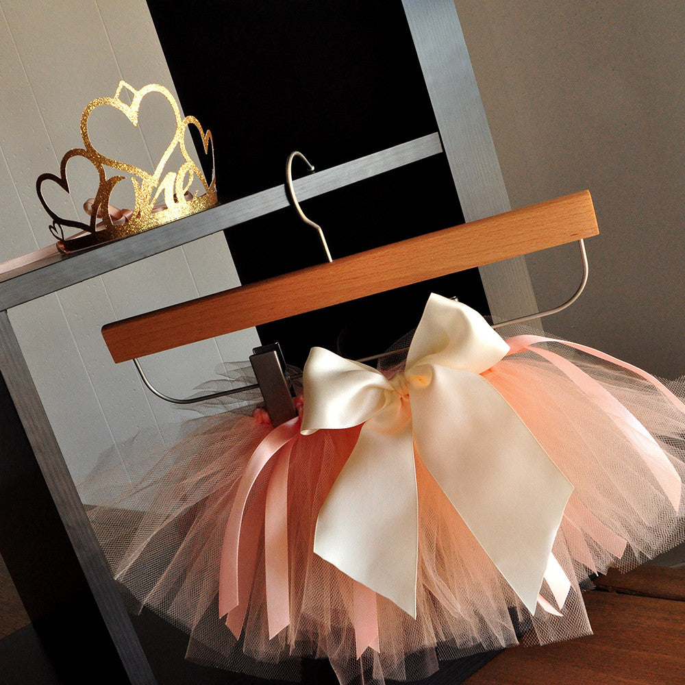 Our Little Pumpkin is Turning One Peach Tutu & Crown Combo. Ships in 1-3 Business Days.