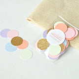 "Pastel Rainbow Confetti 1"" Circles. 50 CT. Handcrafted in 1-3 Business Days. Unicorn Party Decor. Rainbow Party."