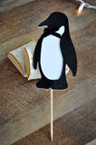 Penguin Cake Topper. Handcrafted in 1-3 Business Days. Winter Wonderland Birthday Party.
