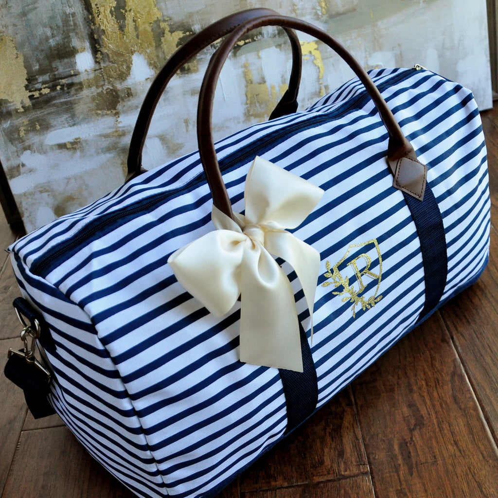 Pre-Order Only - Available April 2019. Personalize Gift for Bridesmaids. Weekender Bag Women. Duffel Bag Women. Bridesmaid Gift. N20W.