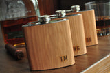 Personalized Groomsman Flask. (Qty. 1) Groomsmen Gift. Groom Gift. Best Man Gift Idea. CH6FL.