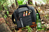 Personalized Groomsmen Gift (Qty. 1). Gray Cooler Bag with Strap. Groomsmen Cooler Beer Bag. Wedding Gift Bag. G12WC.
