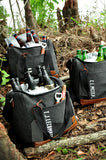 Personalized Groomsmen Gift (Qty. 1). Gray Cooler Bag with Strap. Groomsmen Cooler Beer Bag. Wedding Gift Bag. G12WC. S12WC.