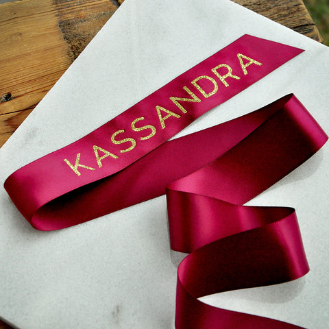Personalized Ribbon for Every Occasion. Personalized in 1-3 Business Days. Personalized Name Ribbon.