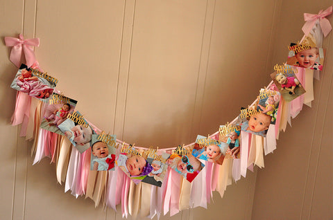 Monthly Photo Banner Ribbon Garland Set Ships In 1 3 Business