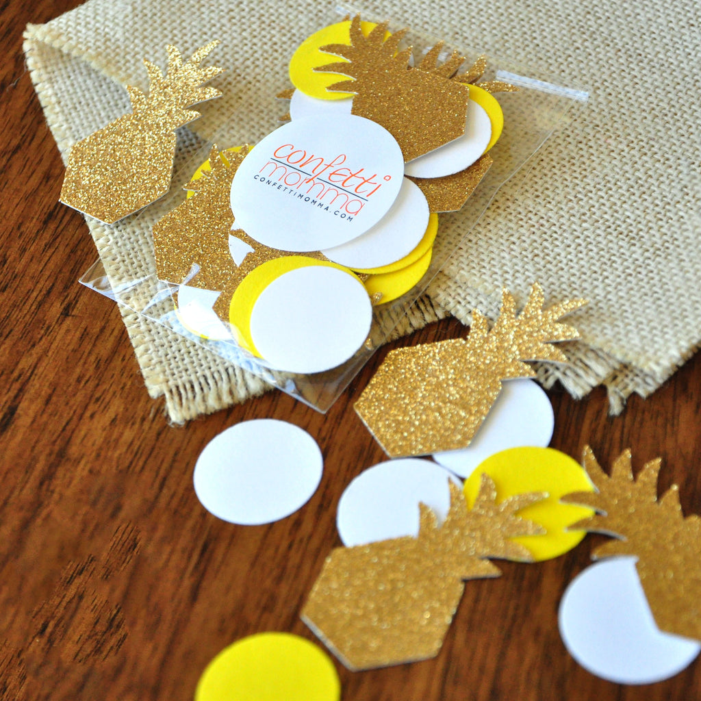 Pineapple Party Decor Ideas. Handcrafted in 1-3 Business Days. Pineapple Confetti. 50 CT.