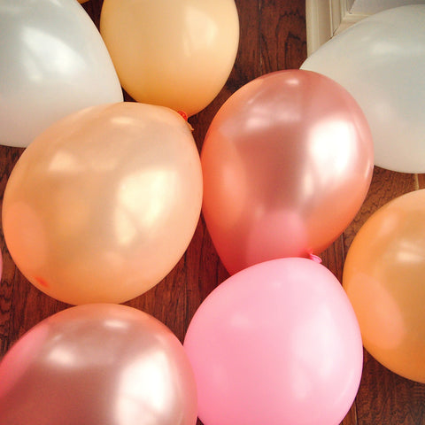 Pink Spring Balloon Mix. Some Bunny is One Party Balloons. Pink Mixed Color Balloons. 16CT.