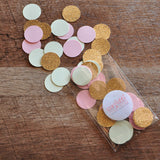 "Mint, Pink and Gold Confetti Circles 1"" 50CT. Ships in 1-3 Business Days. Table Confetti. First Birthday Party Decorations."