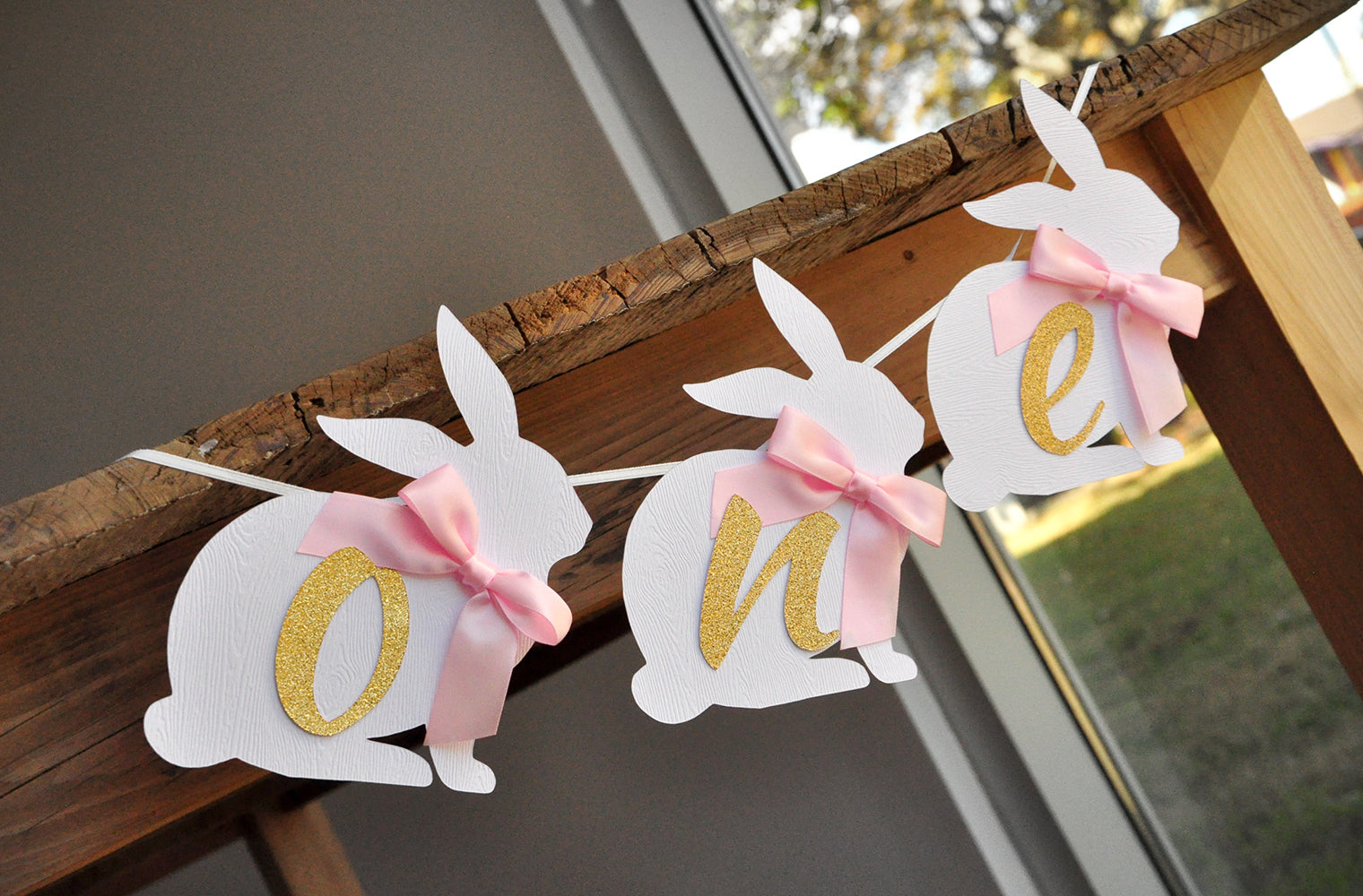 Pink First Birthday Decorations Some Bunny is One Party Decorations Some Bunny First Birthday Decorations Rabbit Pink Bunny Confetti