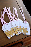 Pink and Gold Thank You Tags. Made in 1-3 Business Days. Winter Onederland Party Supplies. First Birthday Thank You Tags. 10CT.