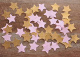 Pink and Gold Party Decor. Ships in 1-3 Business Days. Twinkle Twinkle Little Star. Pink and Glitter Gold Star Confetti 50CT.