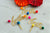 Pom Pom Fiesta Cupcake Toppers. (1 Set of 12 Toppers) Fiesta Decorations. Mexico Bachelorette Party Decoration.
