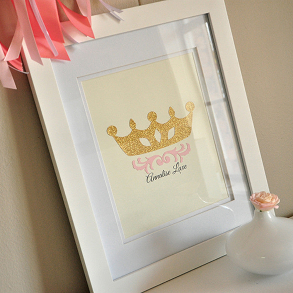 Princess Sign.  Ships in 1-3 Business Days.  Personalized Princess Print (We Print & Ship).