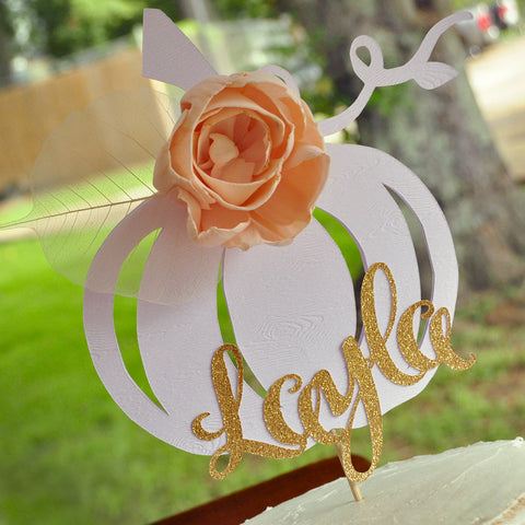 Pumpkin 1st Birthday Custom Cake Topper. Handmade in 1-3 Days. Personalized Cake Topper with Name. Our Little Pumpkin.