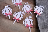 Pumpkin Woodgrain Cupcake Toppers. Handcrafted in 1-3 Business Days. Fall Wedding Cupcake Toppers. Halloween Cupcake Toppers. Set of 12.
