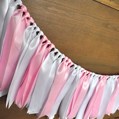 Ribbon Backdrop for Ice Cream Shoppe. Handcrafted in 1-3 Business Days. Fabric Garland.