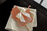 Baby Shower Cake Topper. Handcrafted in 1-3 Business Days. Baby Carriage Cake Topper. Rose Gold Baby Shower Decor.