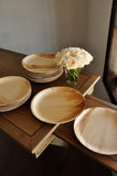 "Round Disposable Dinner Plates for Wedding 10"" Set of 10. Ships in 1-3 Business Days. Disposable 10"" Palm Leaf Plates."