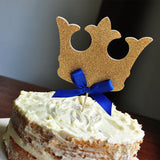 King Crown Cake Topper.  Ships in 1-3 Business Days.  Royal Prince Baby Shower Decorations.