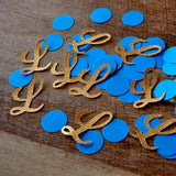 Royal Prince Baby Shower Decorations. Ships in 1-3 Business Days. Initial and Circle Confetti 50CT.