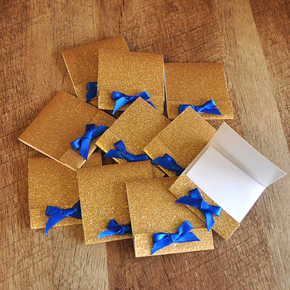 Royal Prince Baby Shower Favors.  Ships in 1-3 Business Days.  Matchbook Notebooks 10 CT.