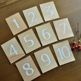 Rustic Wedding Table Numbers. Hand Crafted in 1-3 Business Days. Table Numbers 1-10. Rustic Wedding. Table Number Cards.