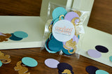 Seahorse Table Confetti 50CT. Under the Sea Party Decor.  Seahorse and Circle Confetti.