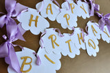 Seashell Birthday Banner. Handmade in 1-3 Business Days. Under the Sea Party Decor.