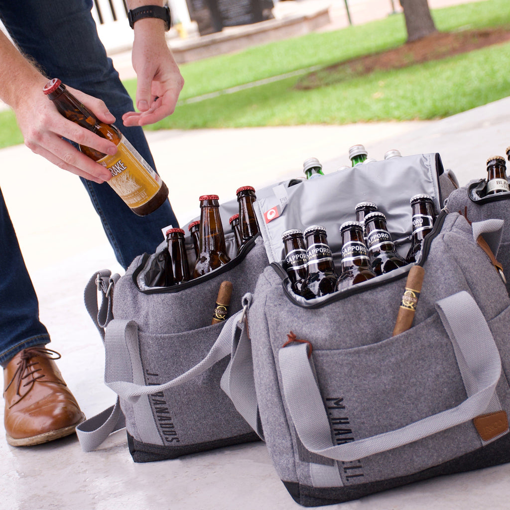 Pre-Order Only. Available Late-November. Groomsmen Cooler. Groomsmen Gift. Silver Cooler with Bottle Opener. S12WC.