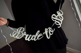 Silver Bride to Be Banner. Made in 1-3 Business Days. Silver Bridal Shower Decorations. Silver Bridal Shower Ideas.